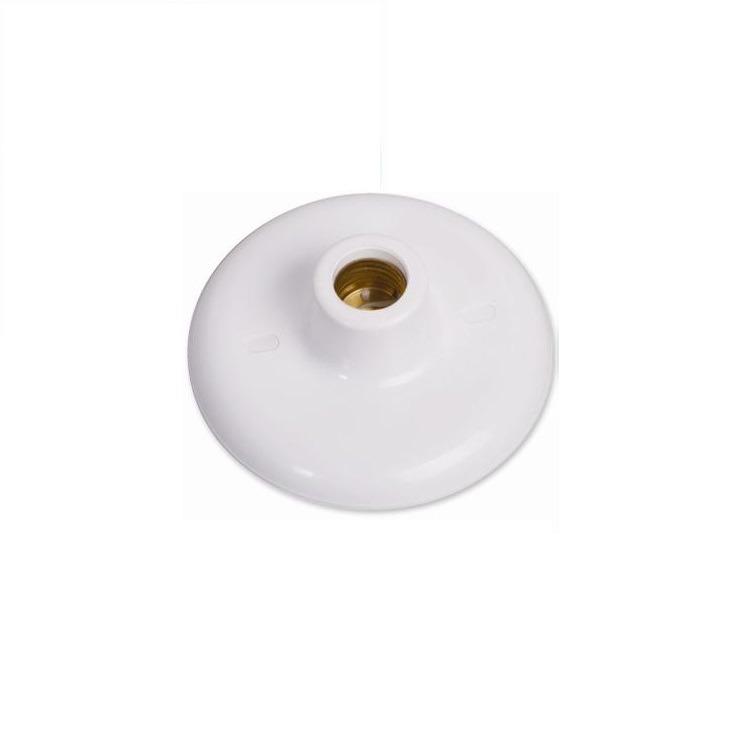 Plafon Porta-Lampada de Sobrepor Redondo 14cm 60W Branco - Ilumi