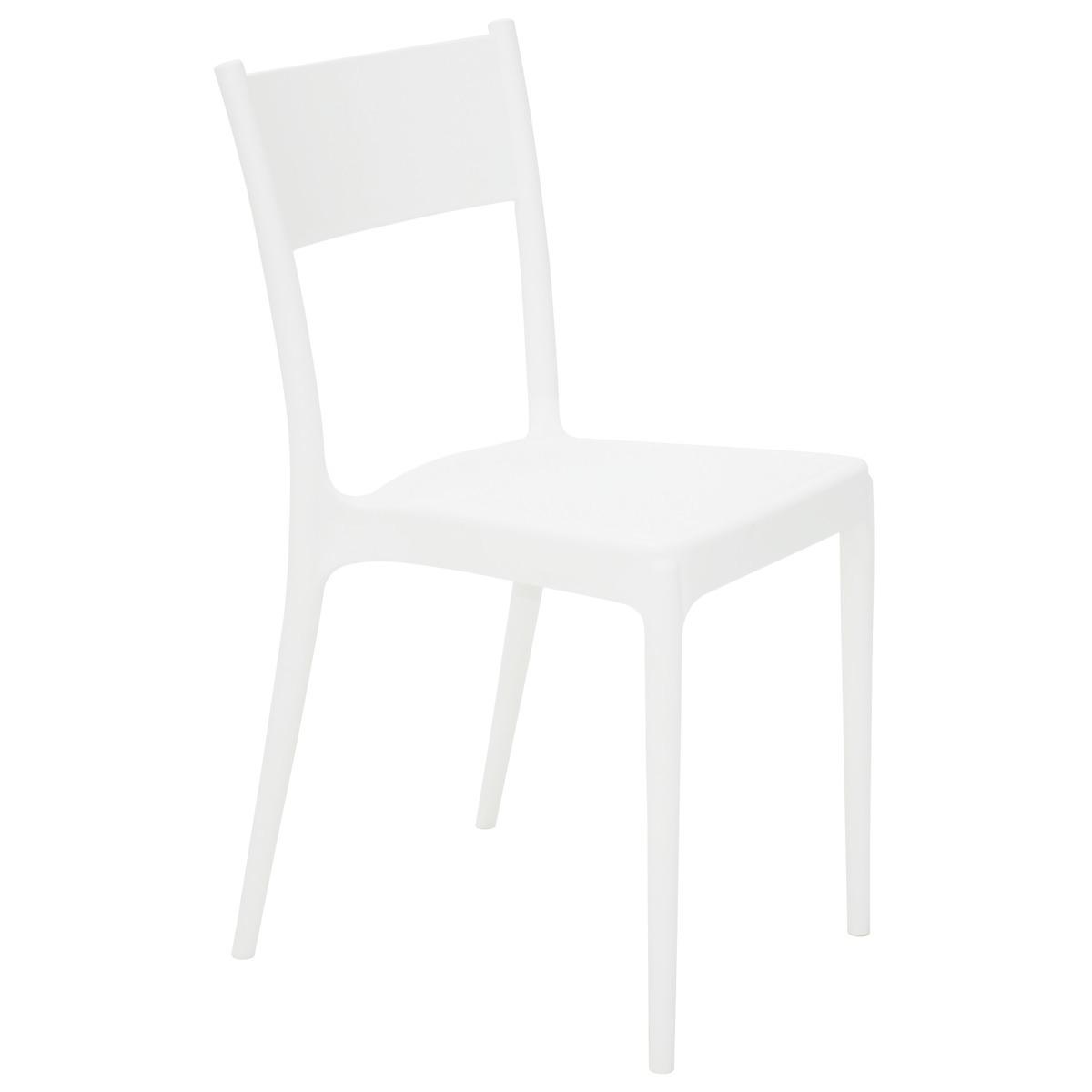 Cadeira Tramontina Branca Diana em Polipropileno com Encosto