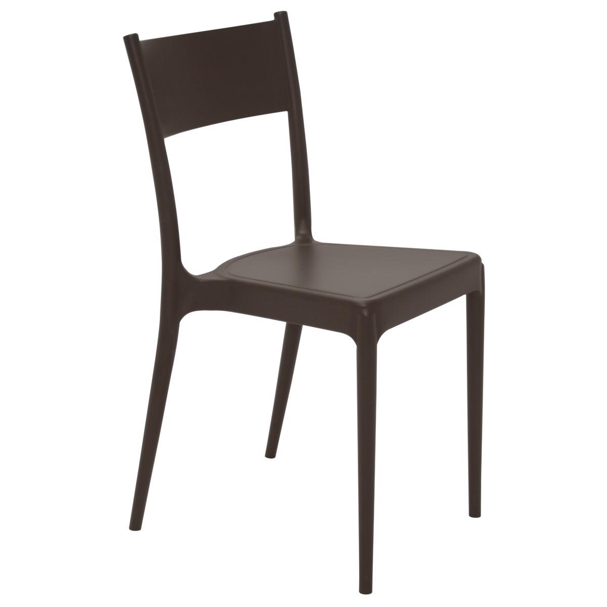 Cadeira Tramontina Marrom Diana em Polipropileno com Encosto