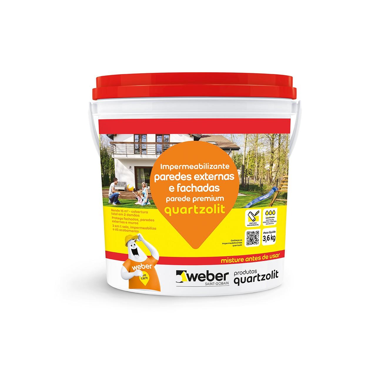 Impermeabilizante para Paredes Externas e Fachadas 36kg - Quartzolit