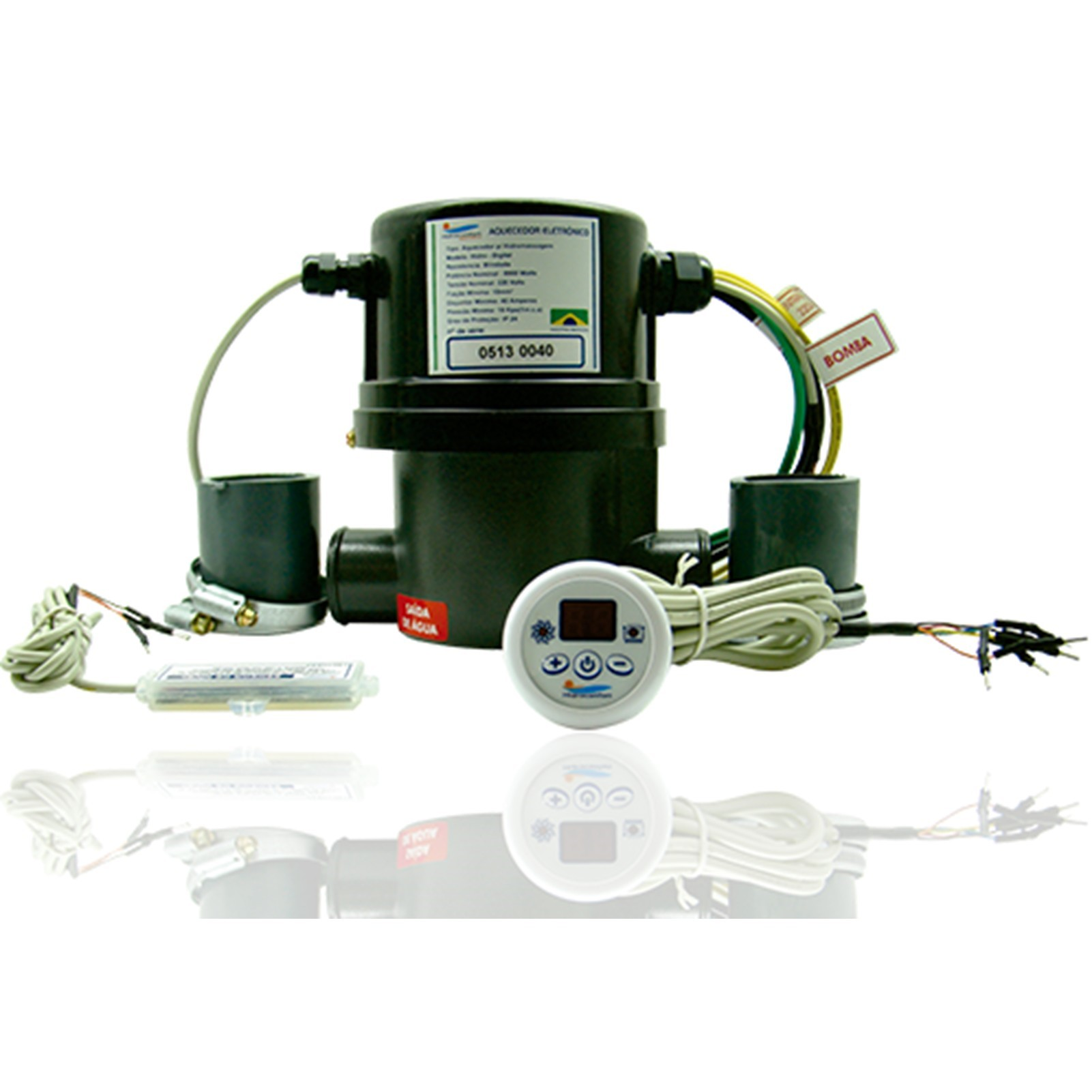 Aquecedor de Hidromassagem Digital 5000W Chrome Silver 220V - Hidroconfort