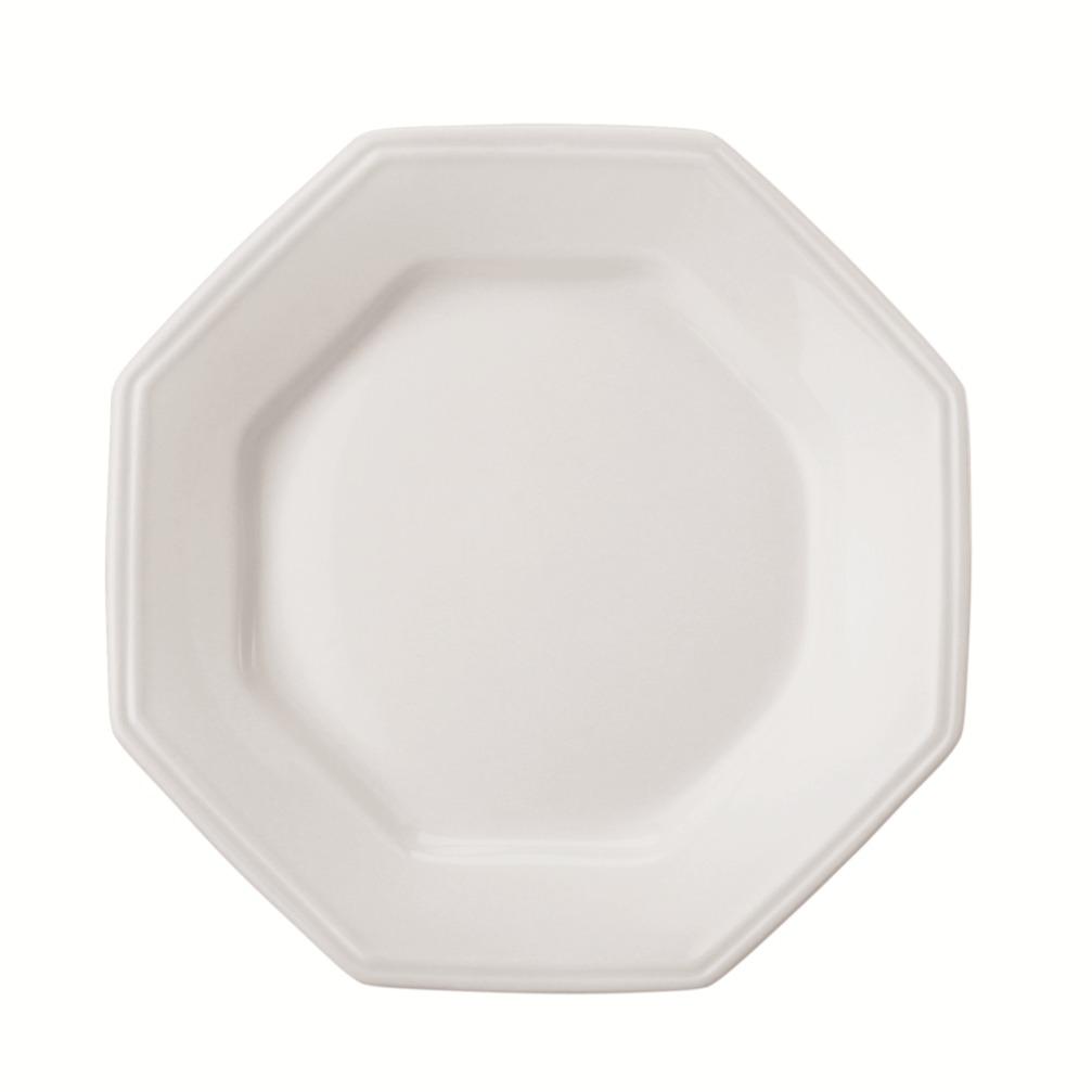 Prato de Sobremesa Oitavado em Porcelana Prisma Branco 20cm - Schmidt