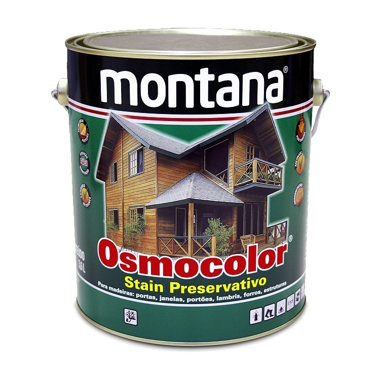 Stain Osmocolor Cores Semitransparentes Acetinado - Ipe - 3600L - Montana