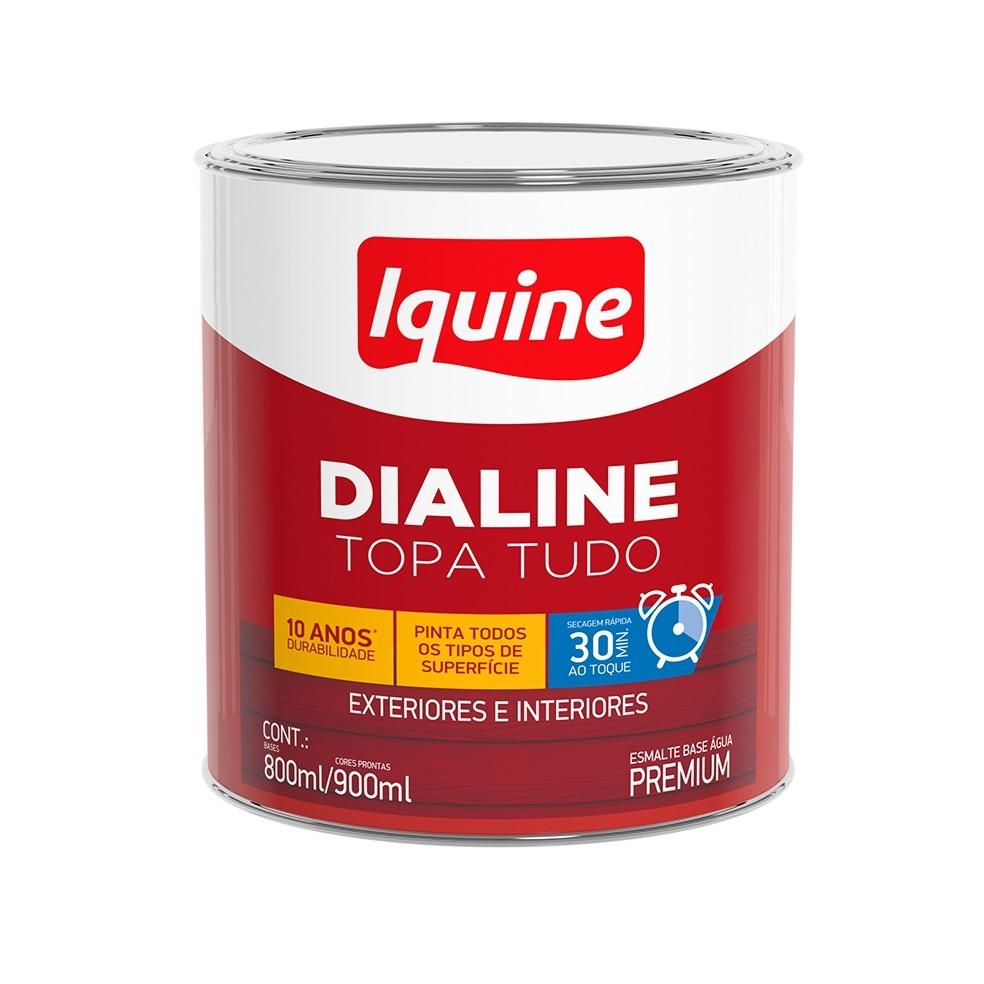 Tinta Esmalte Sintetico Alto brilho Premium 09L - Amarelo - Dialine Base Agua Iquine