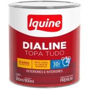 Tinta Esmalte Sintético Alto brilho Premium 0,9L - Branco Gelo - Dialine Base Água Iquine