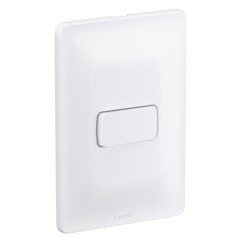 Conjunto Interruptor Paralelo 1 Modulo 10A - Branco - Zeffia - Legrand