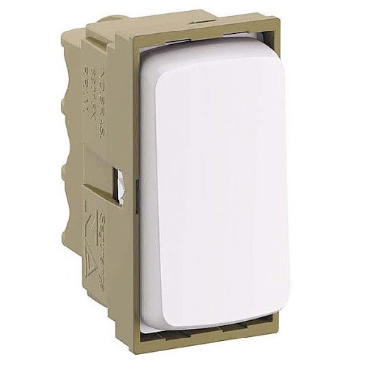 Modulo Interruptor Simples 1 Modulo 10A - Branco - Zeffia - Legrand