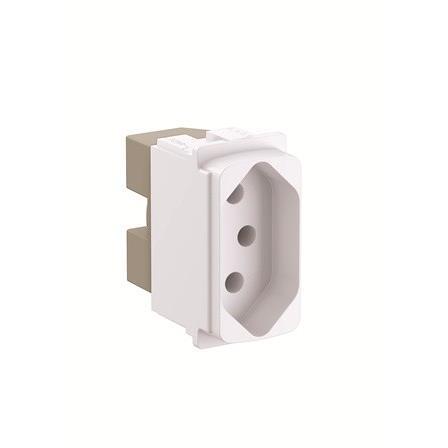 Modulo de Tomada de Energia 1 Modulo 2P T 10A Branco - Zeffia - Legrand