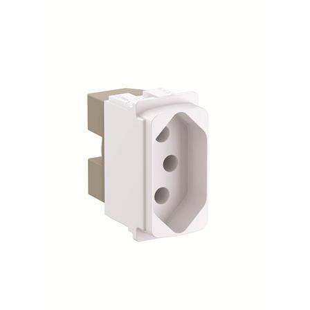 Modulo de Tomada de Energia 1 Modulo 2P T 20A Branco - Zeffia - Legrand