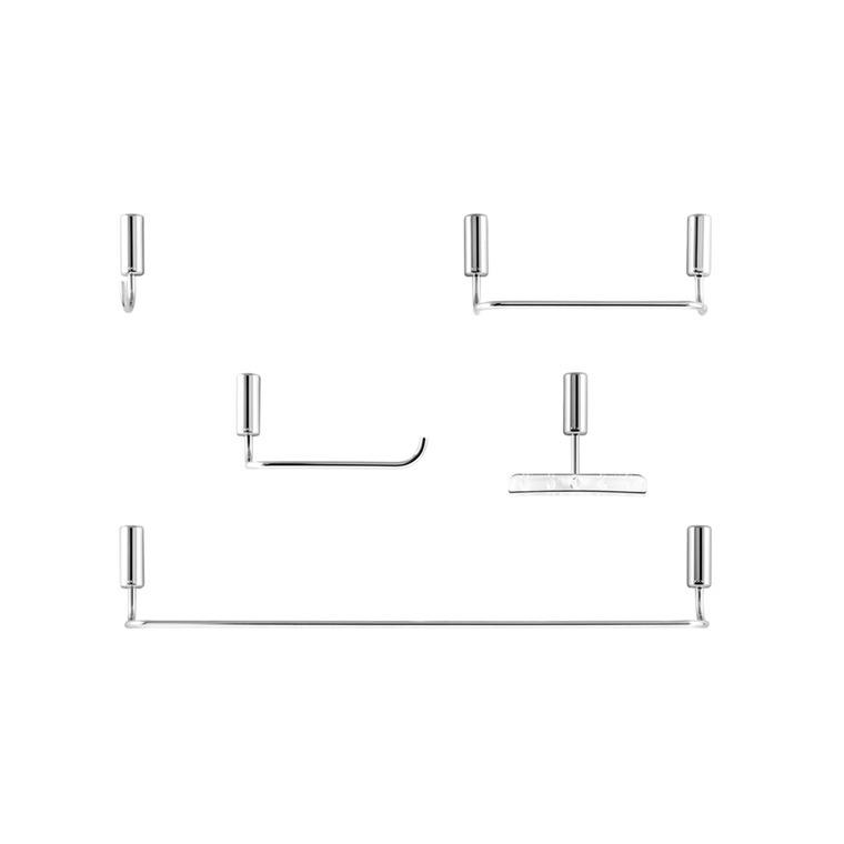 Kit de Acessorios para Banheiro Docol 5 Pecas Metal Idea - Prata