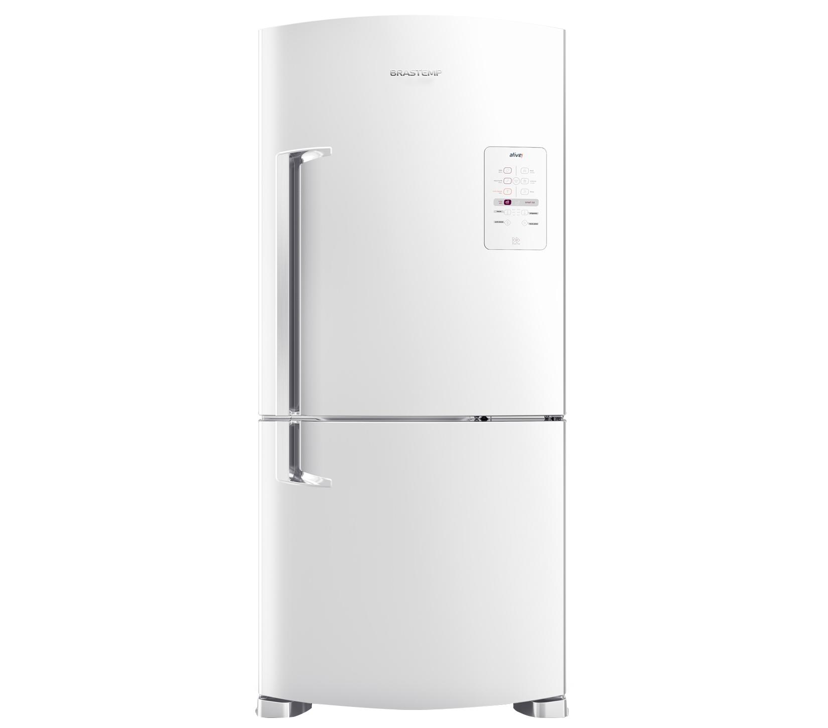 GeladeiraRefrigerador Brastemp Frost Free Duplex 573L Branco 220V - Painel Touch BRE80ABBNA