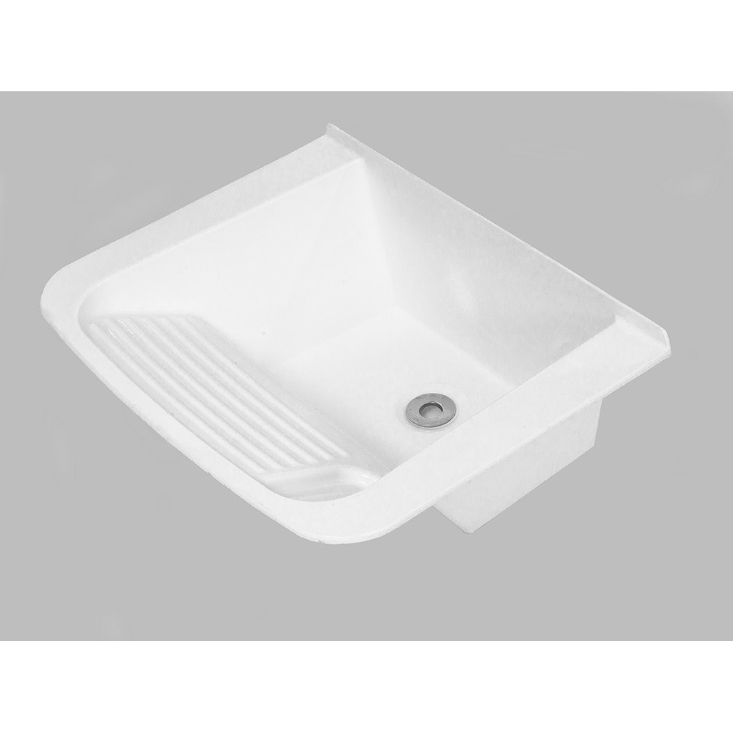 Tanque Sintetico Simples 55x42cm Branco - Decoralita