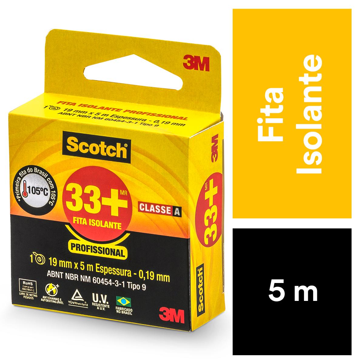 Fita Isolante Scotch 33 19 mm x 5 m - 3M