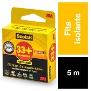 Fita Isolante Scotch 33+ 19 mm x 5 m - 3M