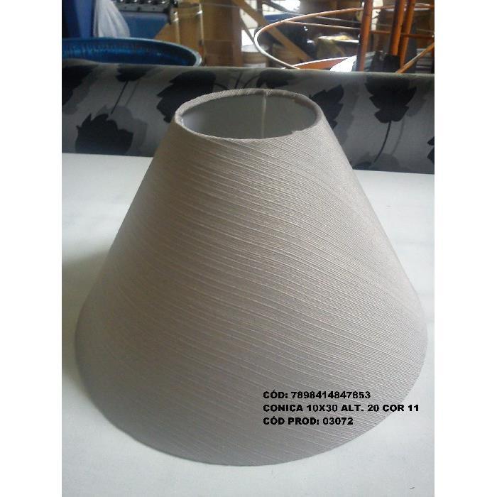 Cupula para Abajur Conica em Tecido 10cm x 30cm Bege - Fendi Cupulas Sao Jorge