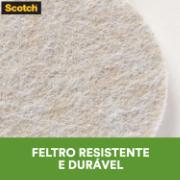 Protetor para Móveis Anti-Risco 3M de Feltro Autoadesivo Redondo 2,5x2,5cm