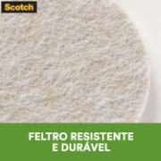 Protetor anti-risco de Feltro Autoadesivo Quadrado 2,5x2,5 - 3M
