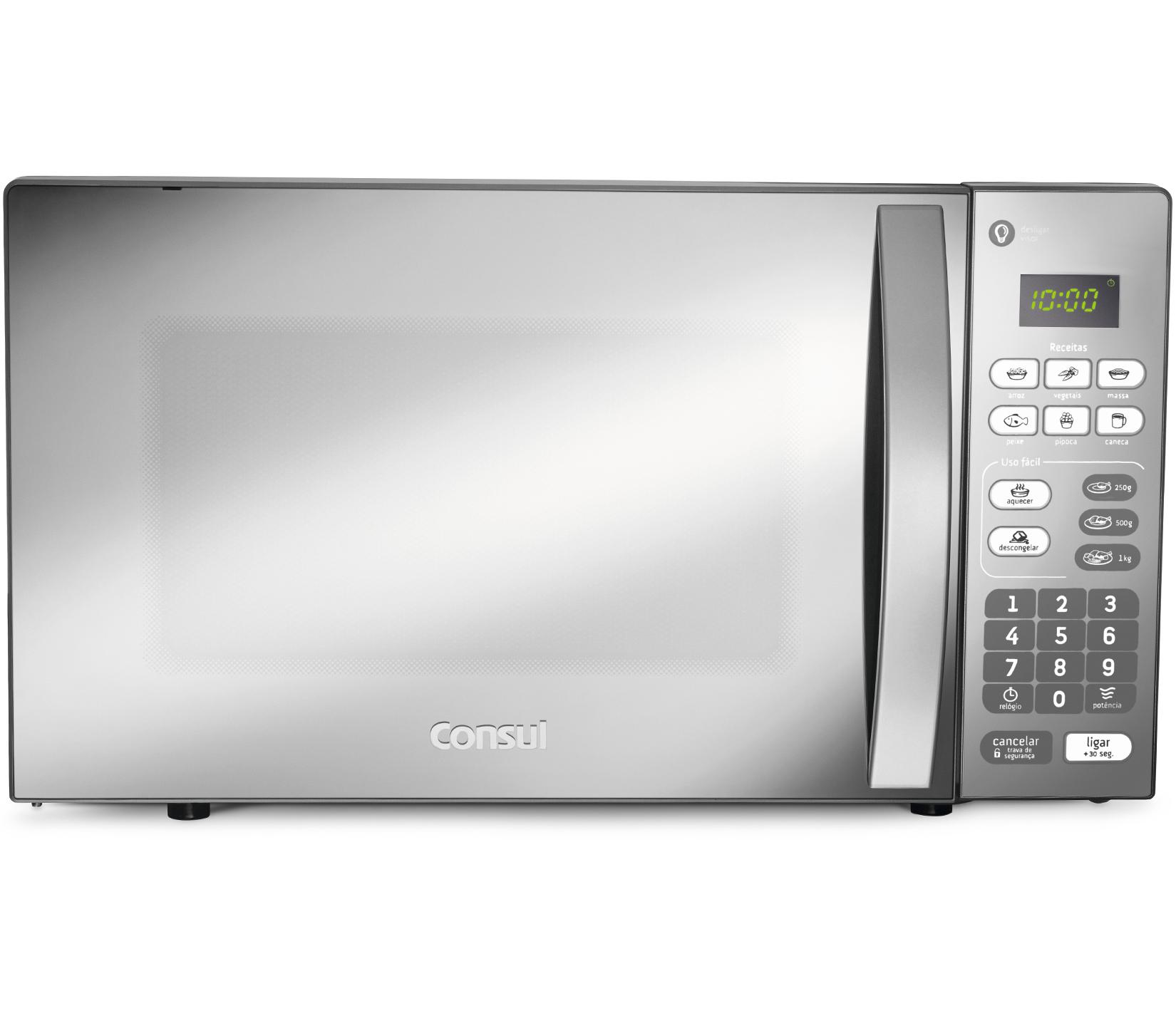 Micro-ondas Consul CM020BFANA Prata 127V - 20L Painel Touch