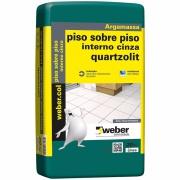 Argamassa Piso/Piso Interno Cinza 20kg - Quartzolit