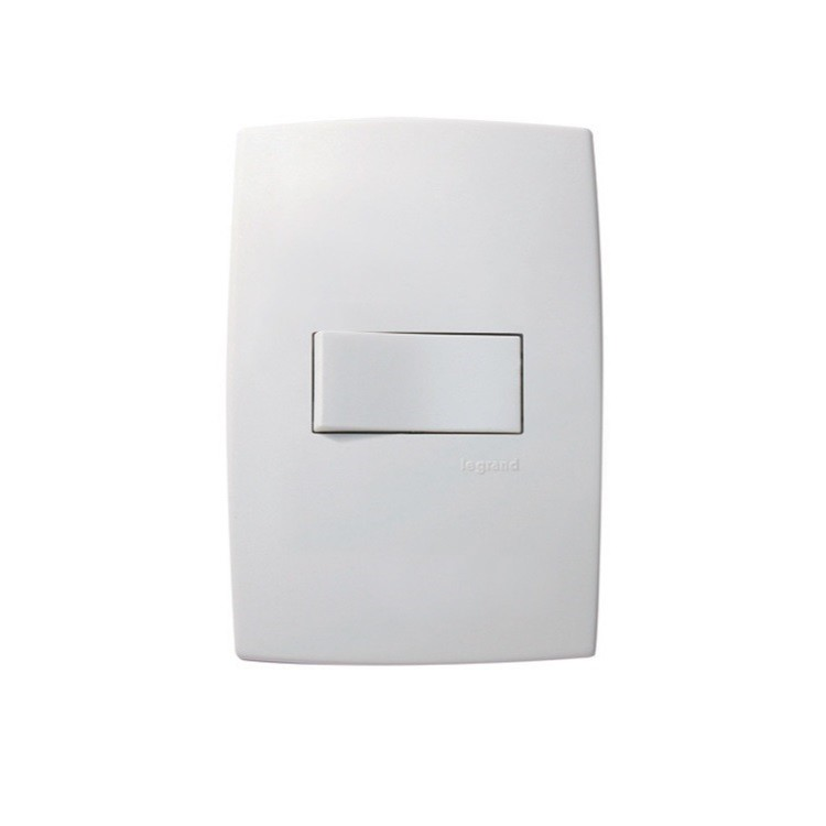 Conjunto Interruptor Simples 1 Modulo Horizontal 10A - Branco - Plus - Legrand