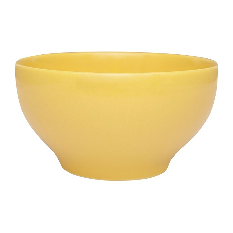 Tigela Funda de Ceramica Redonda 600ml Amarelo - Oxford