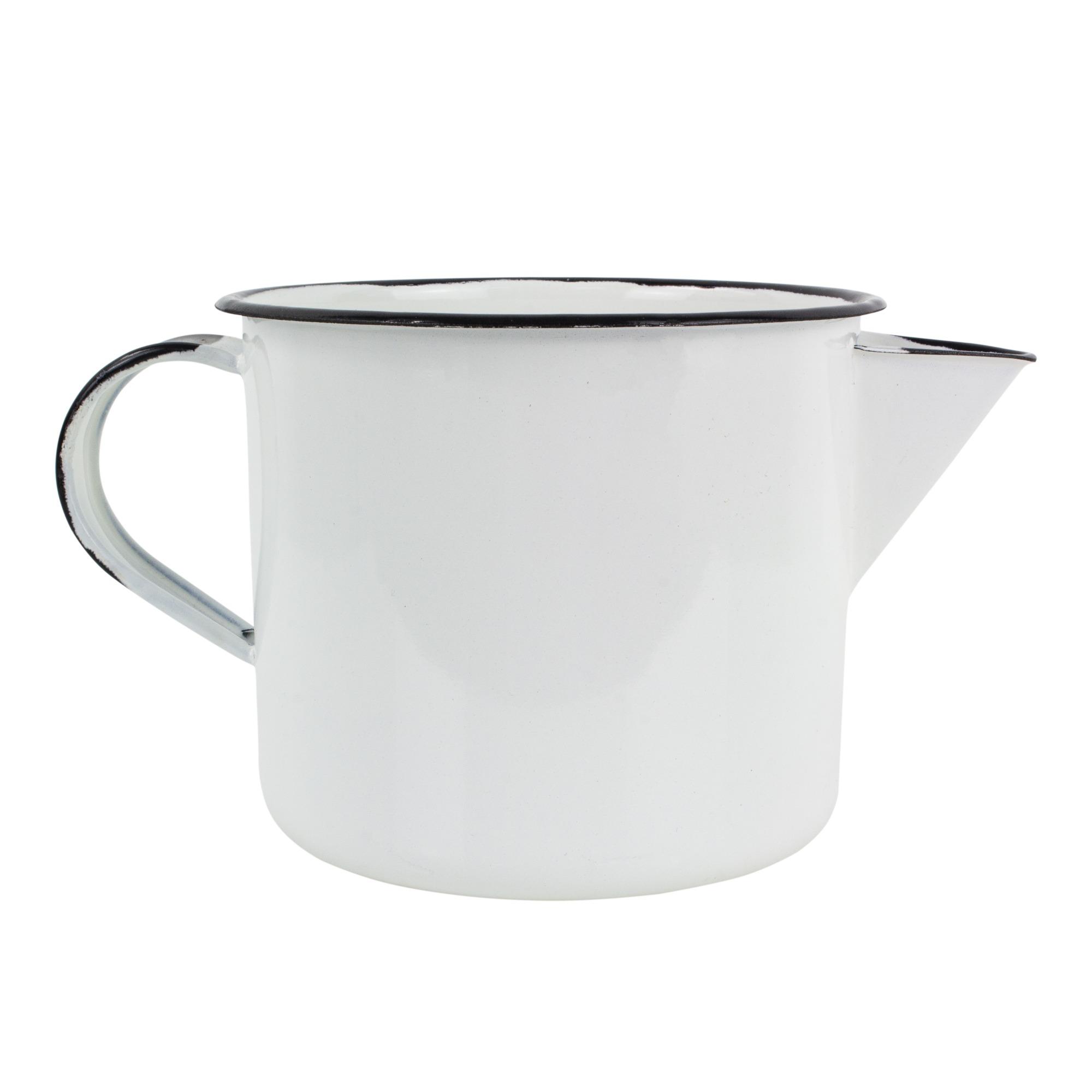 Fervedor Agata Esmaltado 1L Branco - 086 - Metallouca