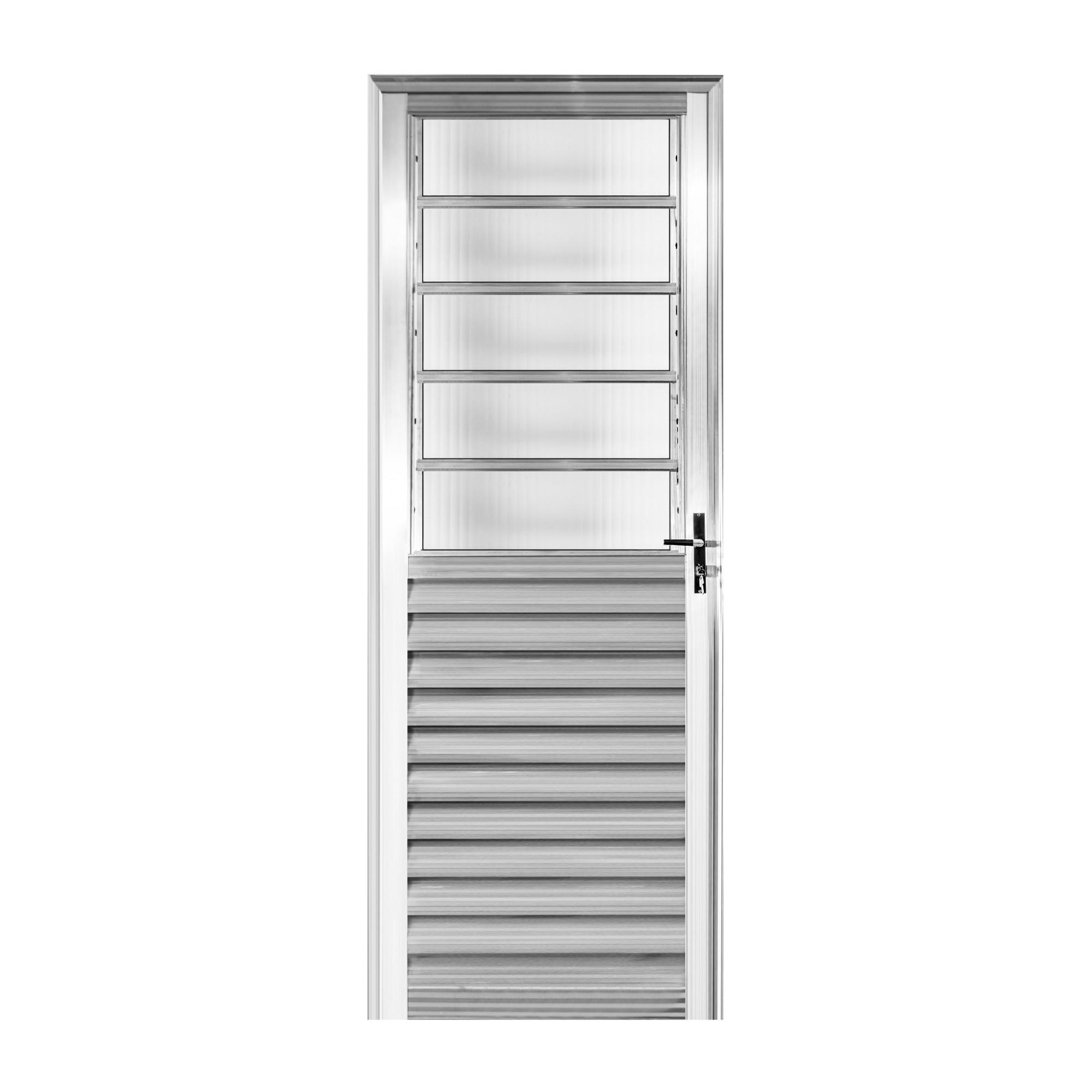 Porta Super Pop de Abrir de Aluminio Basculante 210cm x 80cm Lado Esquerdo - Aluvid