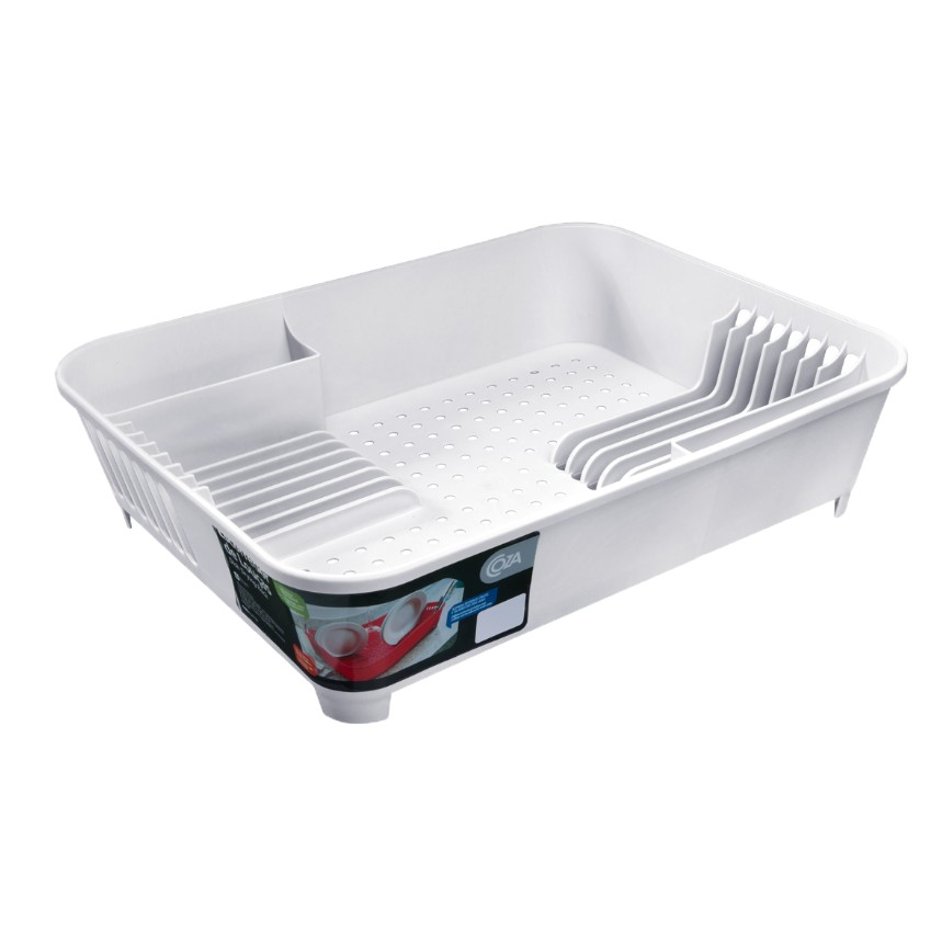 Escorredor de Loucas Plastico - Branco 10848 - Coza