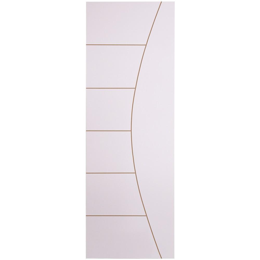 Porta de Madeira Frisada 70x210 cm Branca F04 - Madelar