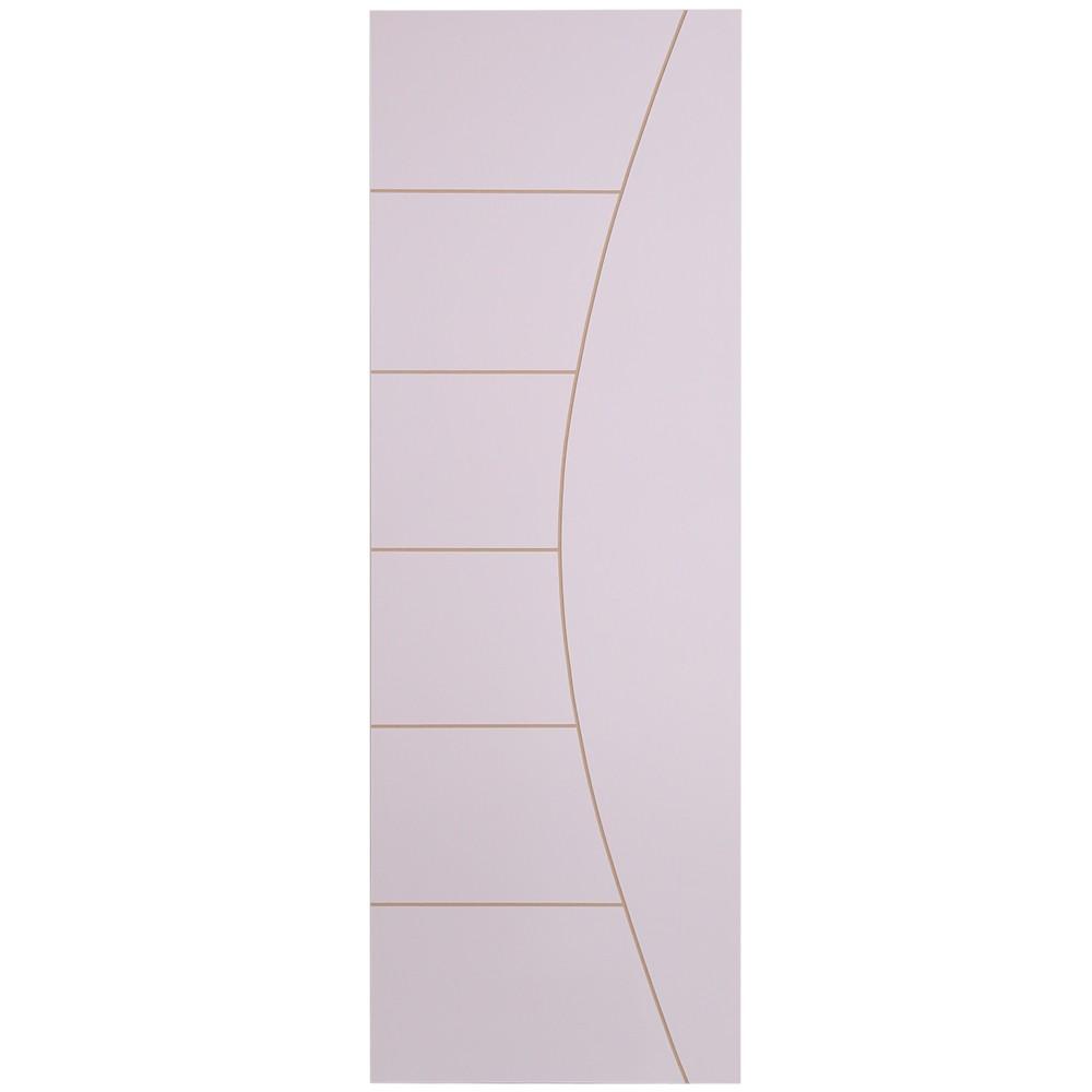 Porta de Madeira Frisada 80x210 cm Branca F04 - Madelar