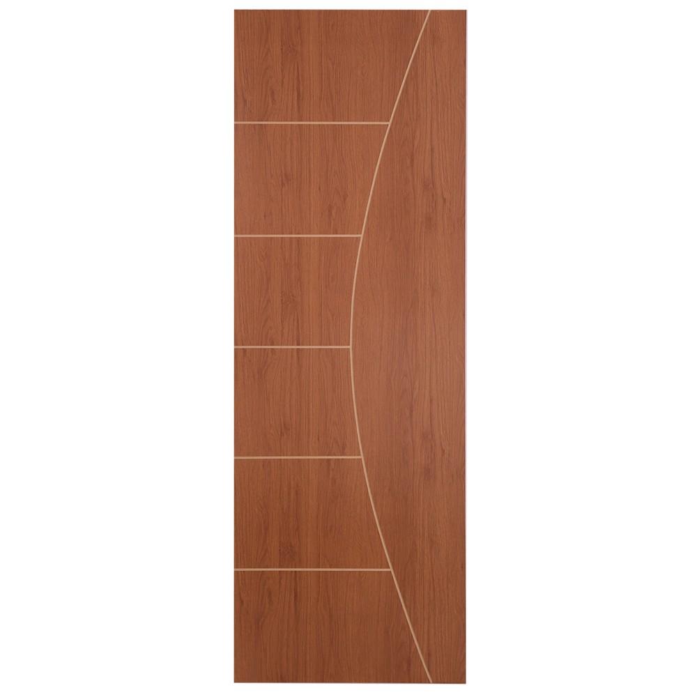 Porta de Madeira Frisada 70x210 cm Mogno F04 - Madelar