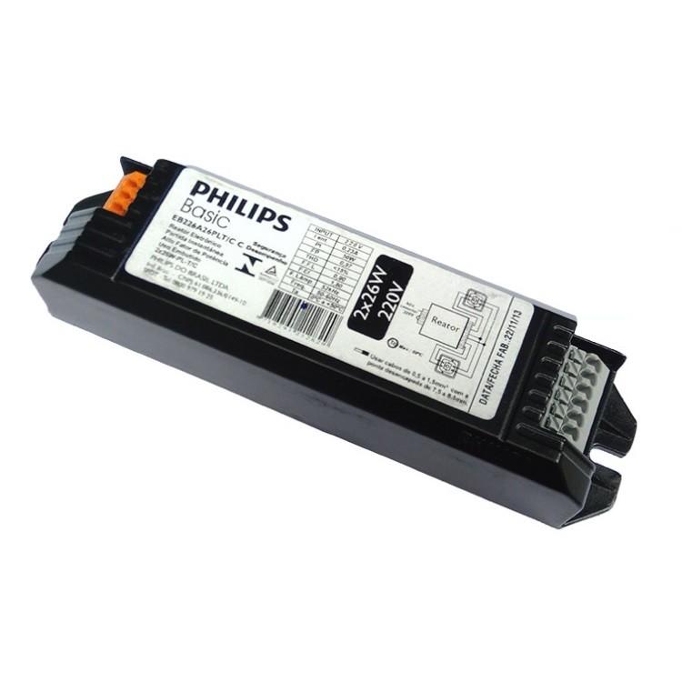 Reator Eletronico 2x26W 220V - Philips
