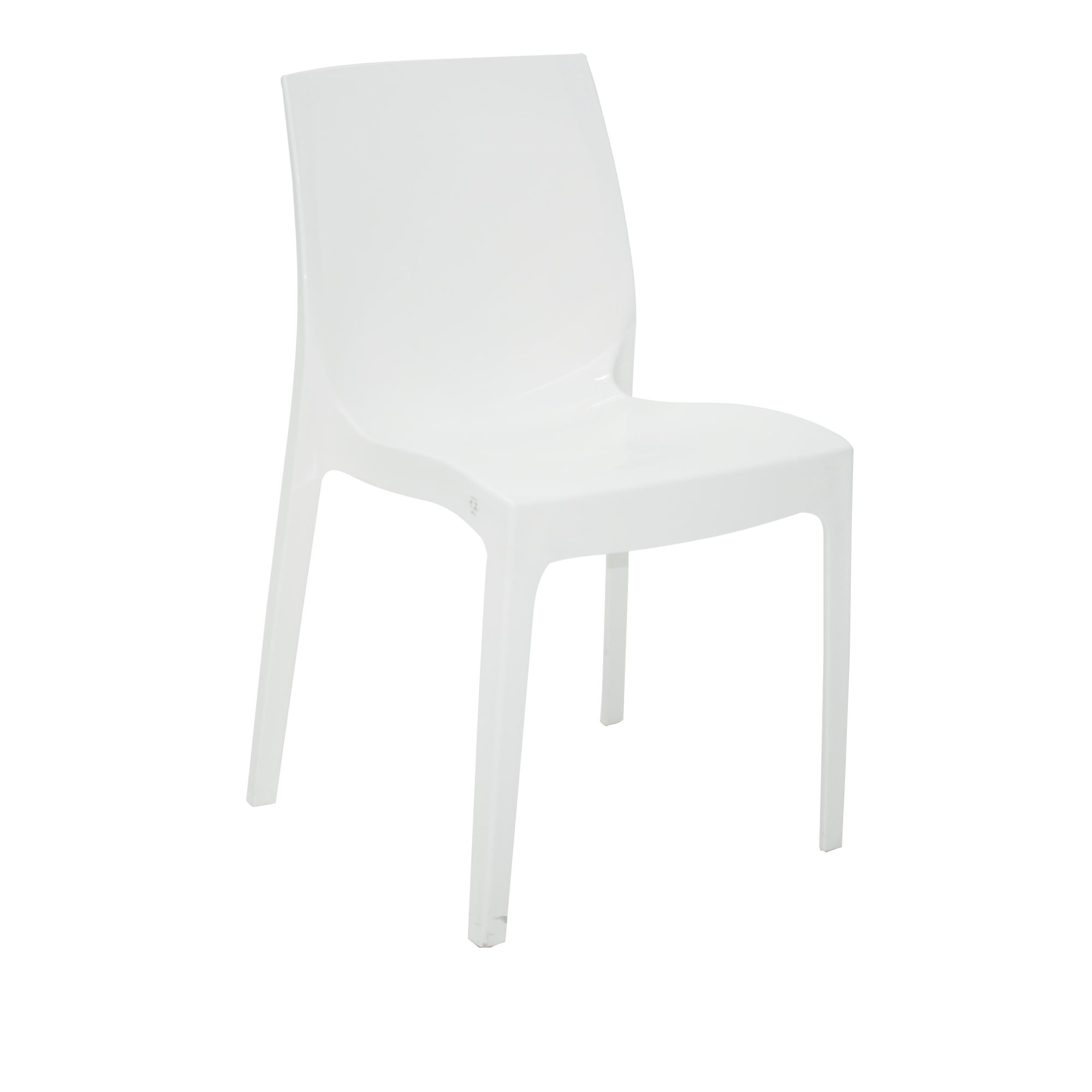 Cadeira Tramontina Branca Alice em Polipropileno com Encosto