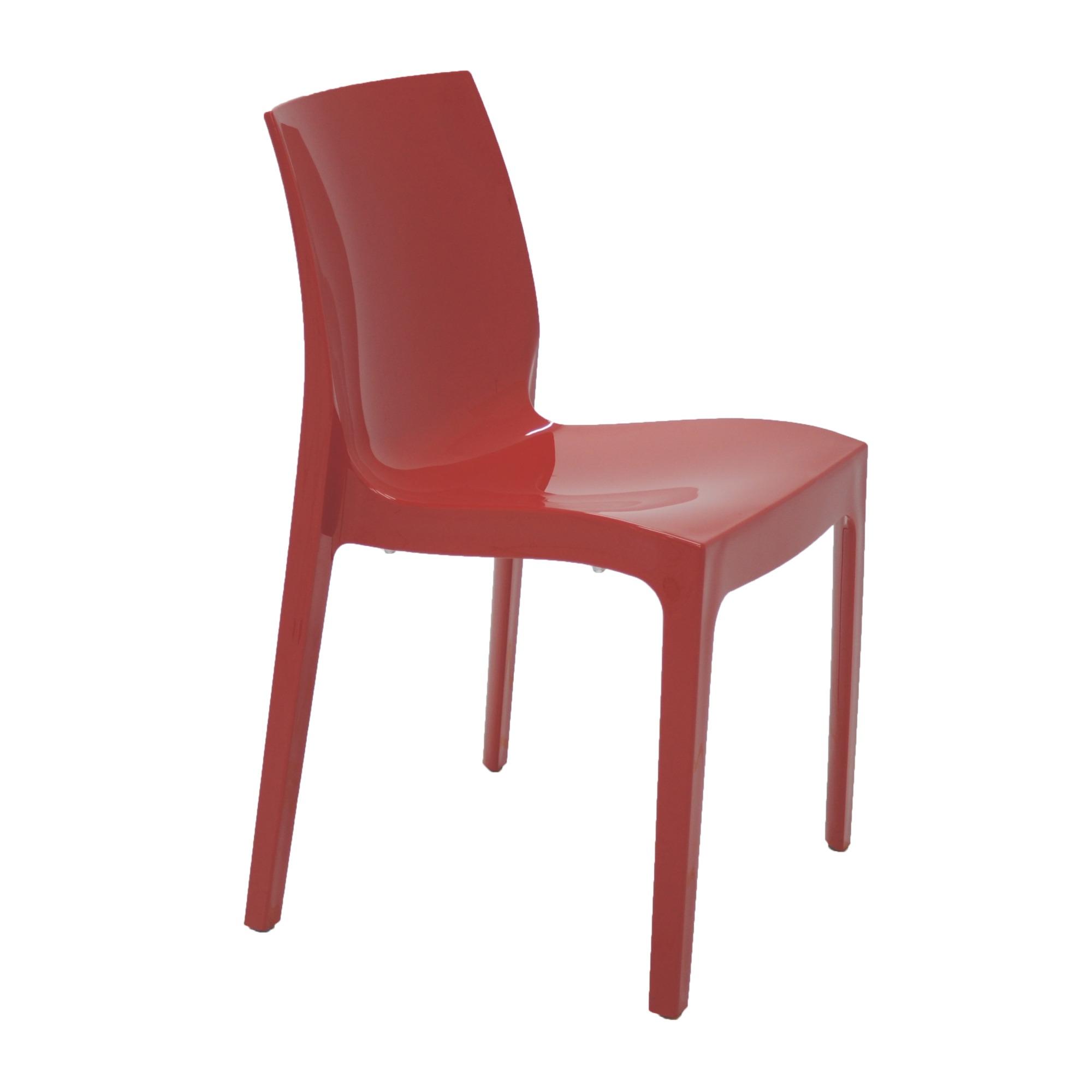Cadeira Tramontina Vermelha Alice em Polipropileno com Encosto