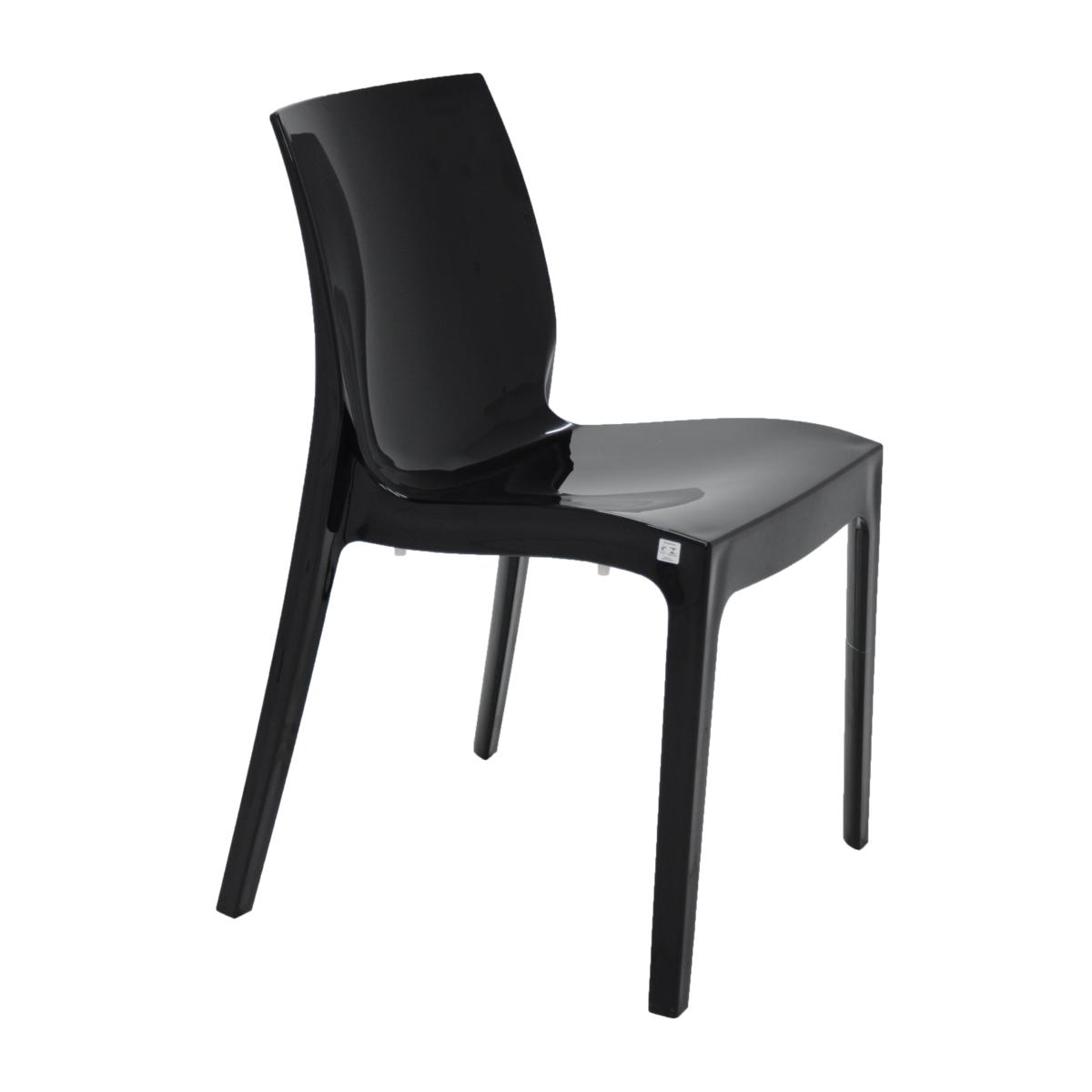 Cadeira Tramontina Preta Alice em Polipropileno com Encosto