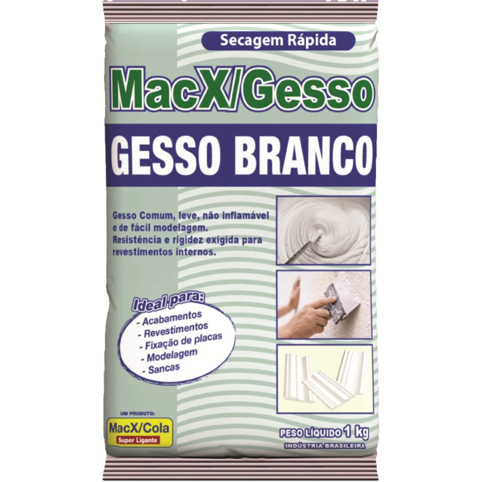 Gesso em Po Branco Saco 1kg - MacXCola