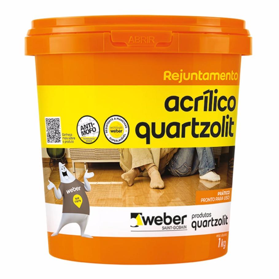 Rejunte Acrilico Cinza Platina Balde1kg - Quartzolit