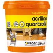 Rejunte Acrílico Cinza Platina Balde/1kg - Quartzolit