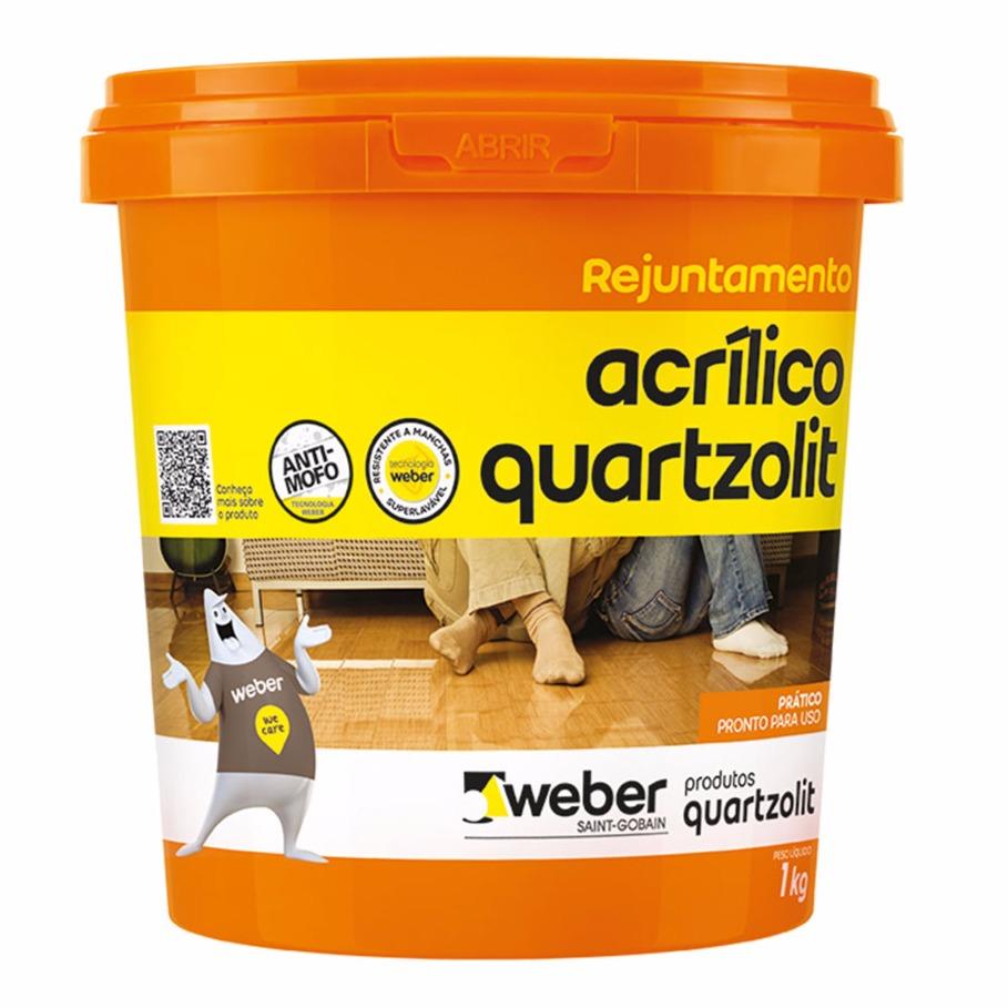 Rejunte Acrilico Marfim Balde1kg - Quartzolit