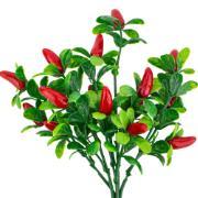 Buquê de Folhagem Artificial Mini Pimentas Vermelho