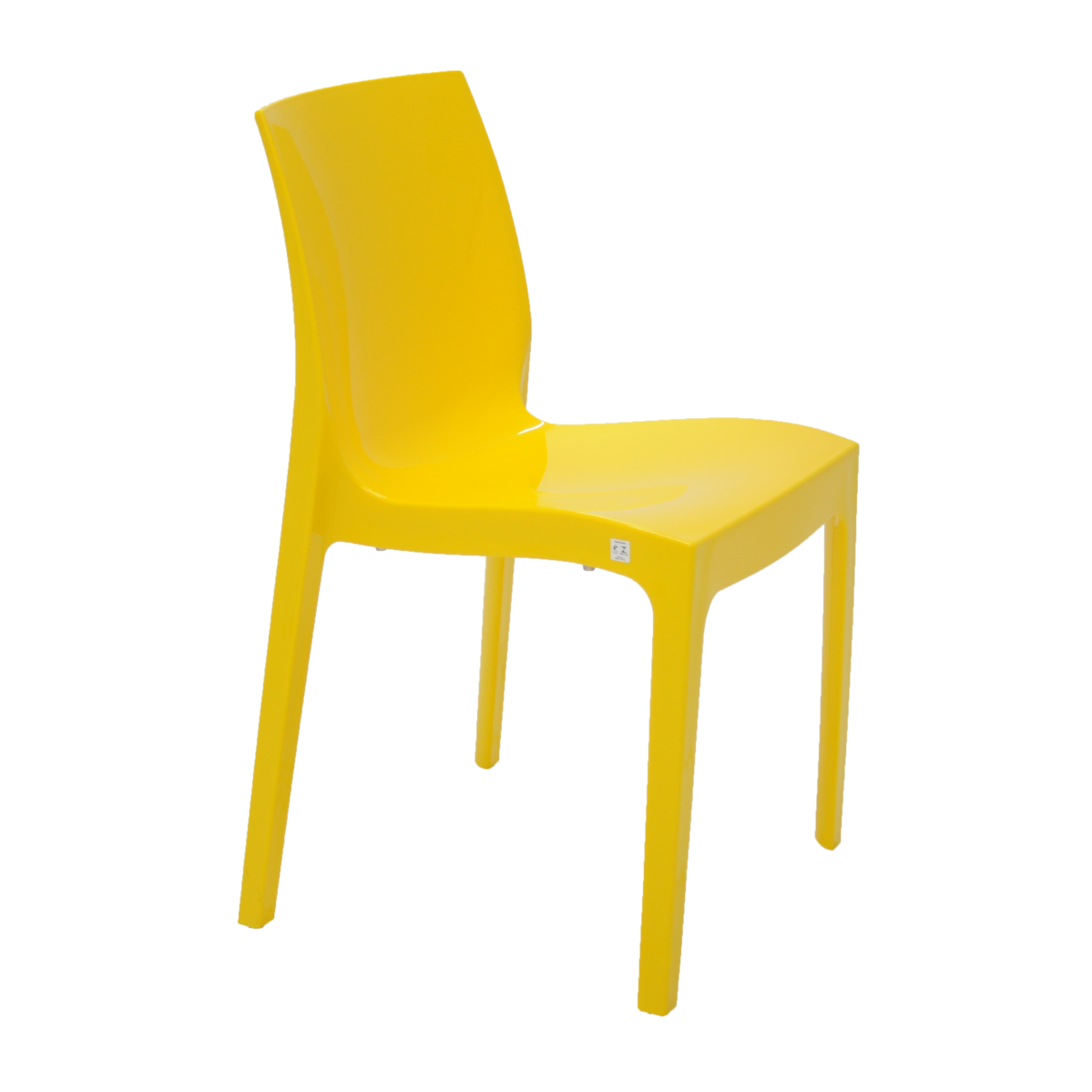 Cadeira Tramontina Amarela Alice em Polipropileno com Encosto