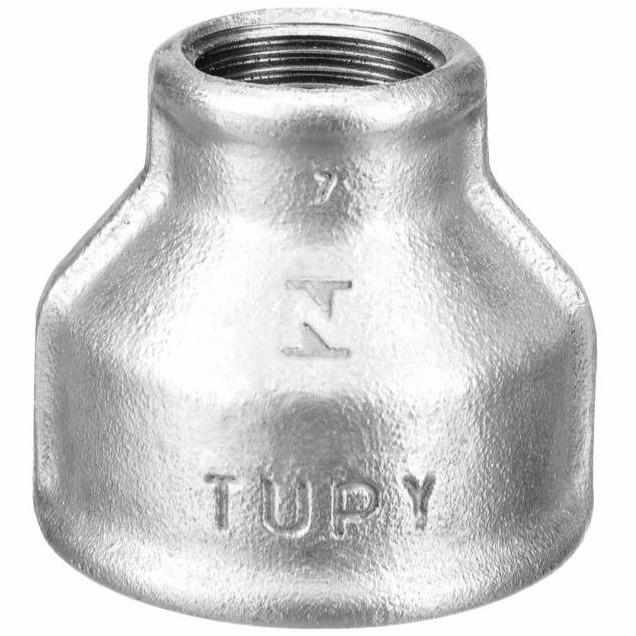 Luva de Reducao Galvanizado Roscavel 1 x 12 - Tupy