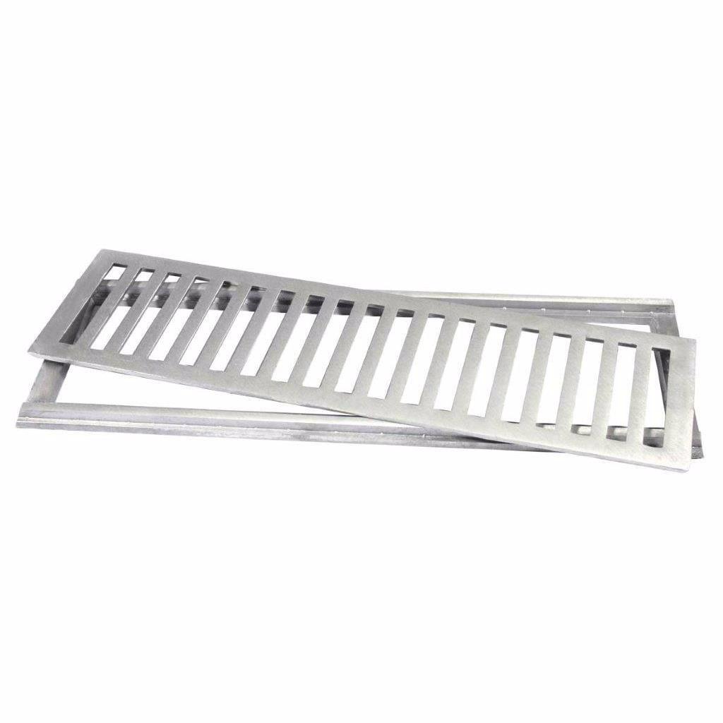 Grelha de Aluminio para Piso Escovada Retangular 10x100cm - LGMais