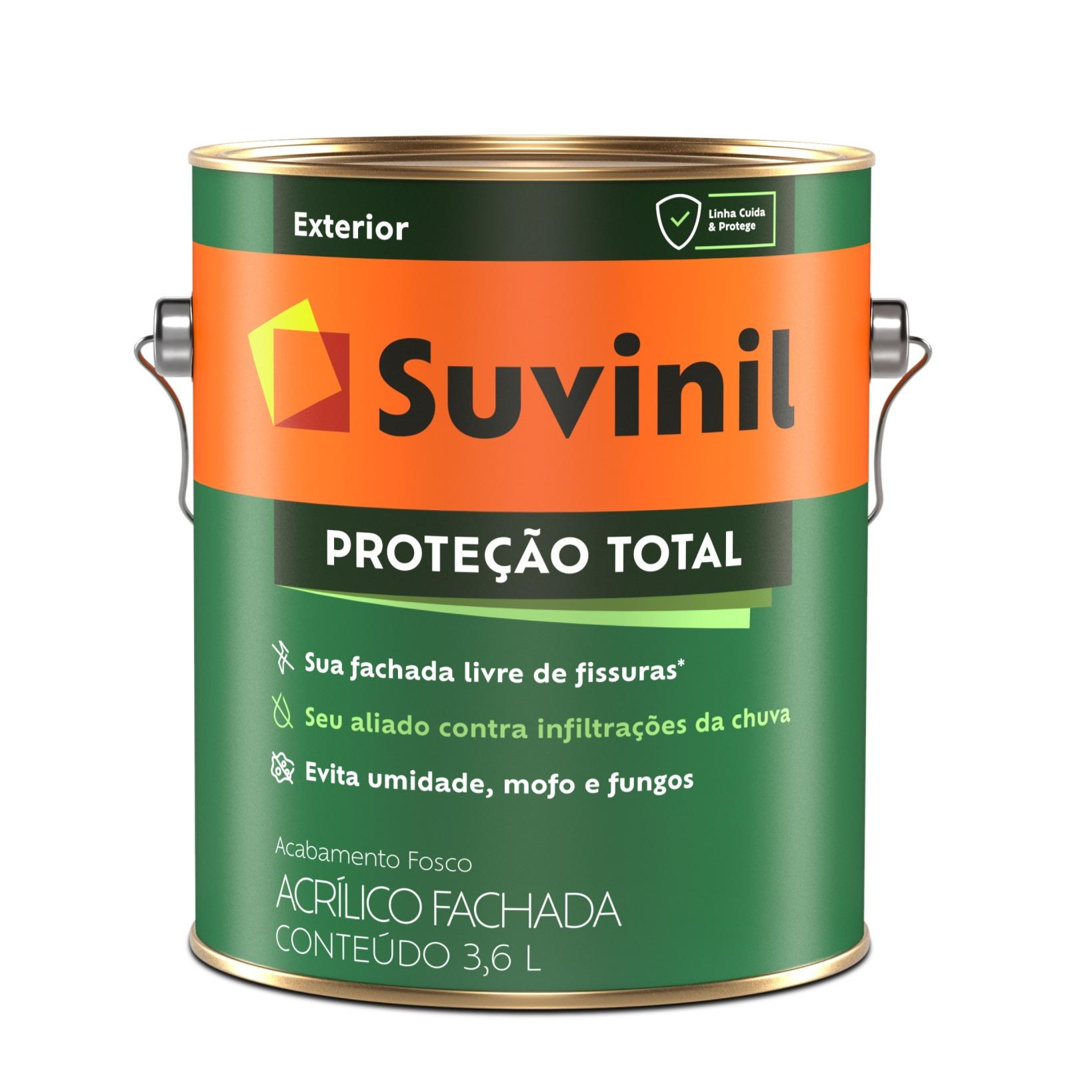 Tinta Acrilica Fosco Premium 36L - Branco Neve - Protecao Total Suvinil