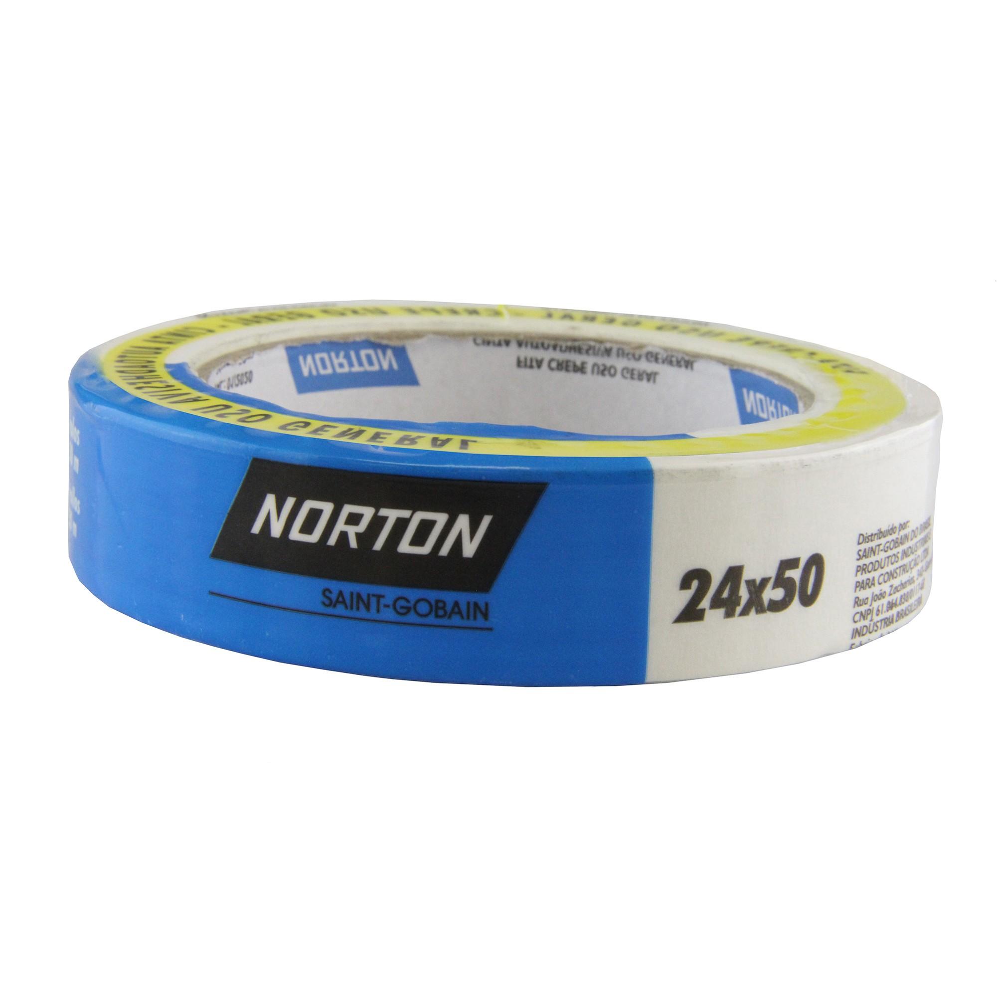 Fita Adesiva Crepe Branco 24mm x 50m 1 Unidade - Norton