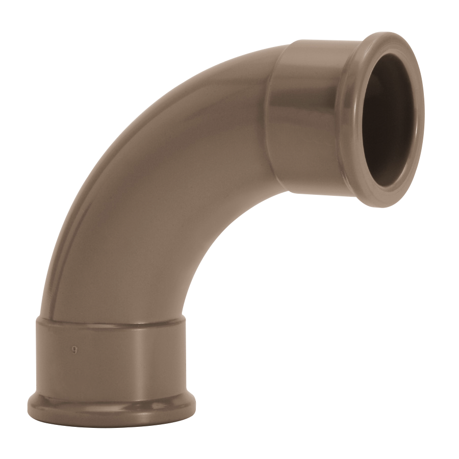 Curva 90 Soldavel PVC Marrom 50 mm 11612 - Amanco