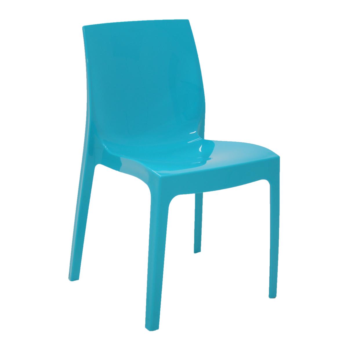 Cadeira Tramontina Azul Alice em Polipropileno com Encosto