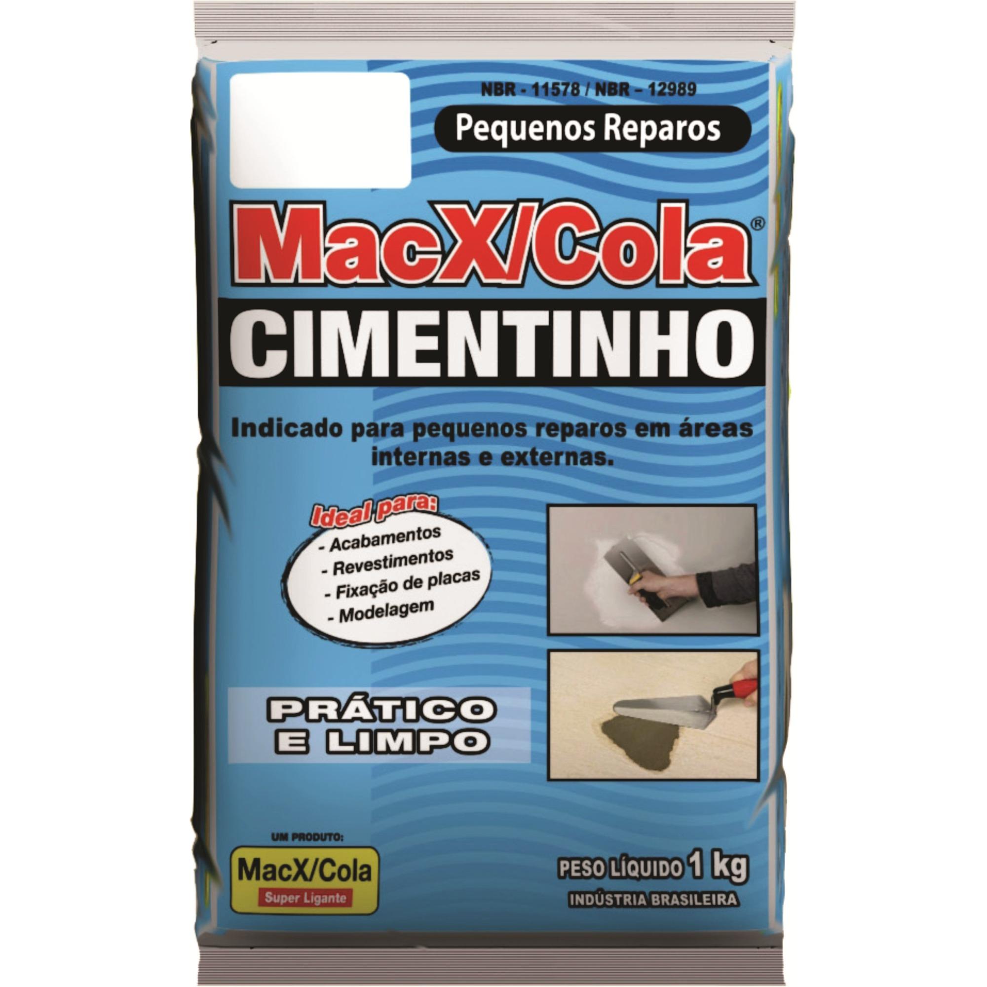 Cimento Cinza Saco 1kg - MacXCola