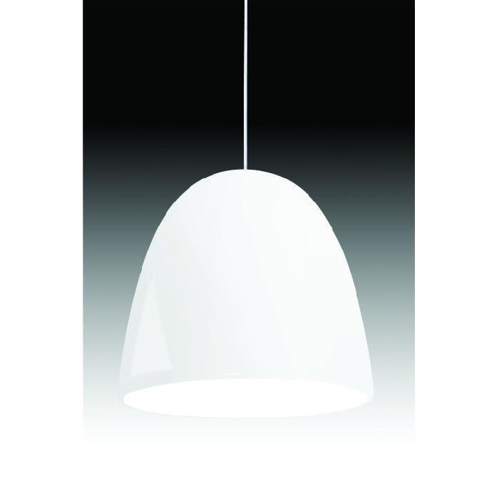 Lustre Aluminio Cloche Branco 15 cm 1 Lampada 2005 - Quality Iluminacao