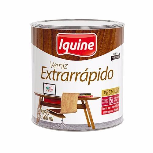 Verniz Extrarrapido Alto Brilho - Nogueira - 0900L - Secagem Rapida Iquine